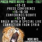 NOP popiera ogólnoeuropejską manifestację solidarności z Syrią w Rzymie