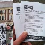 """Łańcut: Działacze NOP solidarni z załogą """"Polmosu"""""""
